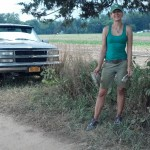 Kristen Keckler down on the farm