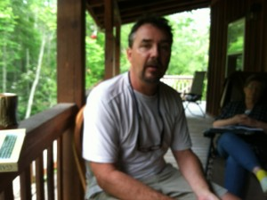 Dave on the porch