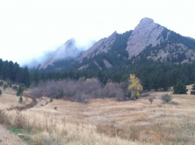 Flatirons in mist, Boulder