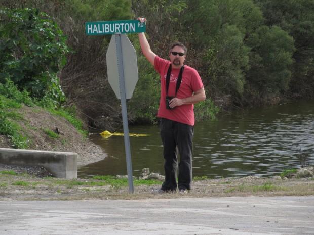 Halliburton (misspelled).